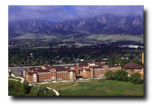 Campus with mountains in background